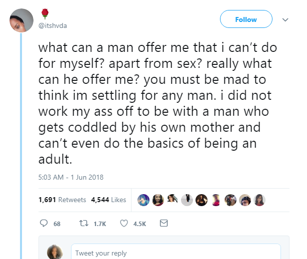 Ah! 'Any Man Who Wants To Marry Me, That Cant Cook & Wipe me Must Be Mad'- Lady Says
