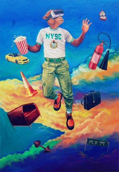 NYSC Member Wins Afriture Painting Competition, Goes home with $2,500