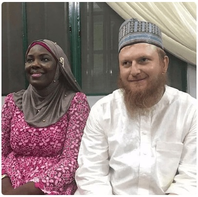 American Man Marries Hausa Bride He Met Online After Converting To Islam (Photos)