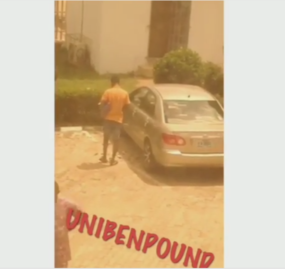 Yahoo Plus; Students Shocked After Money Started Falling From Man's Body In Uniben (PHOTOS)