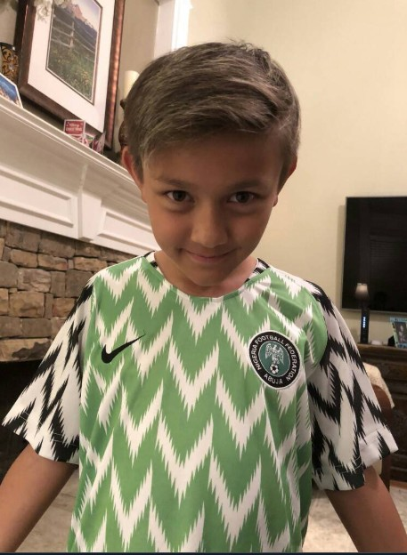 3407fc954 Foreigners Proudly Rocking Super Eagles  Jersey After It Sold Out ...