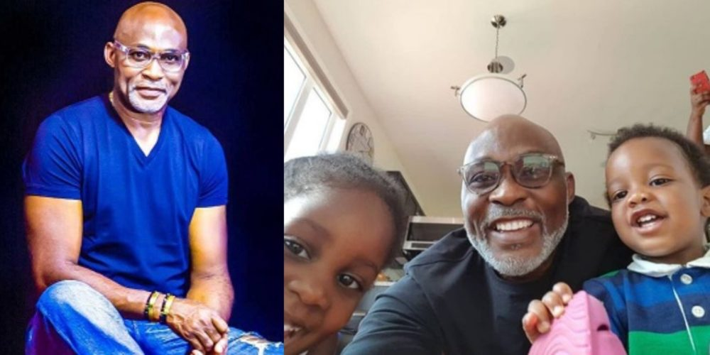 Veteran Nollywood Actor Richard Mofe Damijo Shares Cute New Photo With His Grand Kids