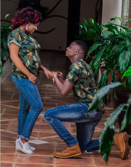 Check Out Stunning Pre-Wedding Photos Of A Nigerian Soldier And His Pregnant Bride-To-Be