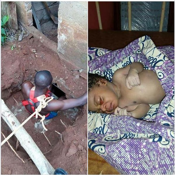 New Born Baby Rescued Alive After being Thrown Into Septic Tank By Mother
