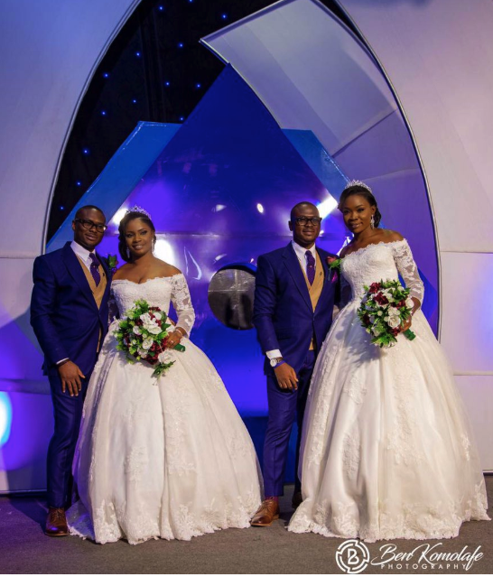 Adorable Wedding Pictures Of Identical Twins And Their Lovely Wives