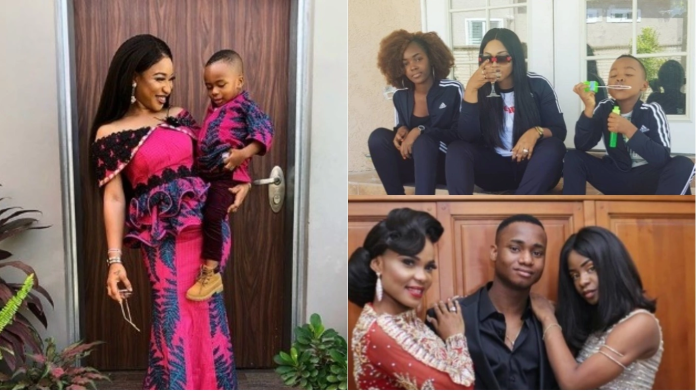 7 Talented Nollywood Actresses Playing the 'Father Role' for their Children (Photos)