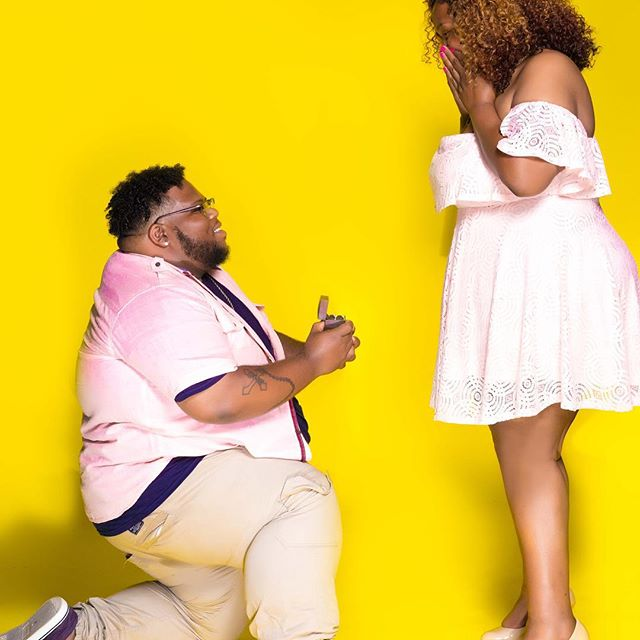 Chubby Plus Sized Man Proposes To His Longtime Girlfriend in Style (Photos)