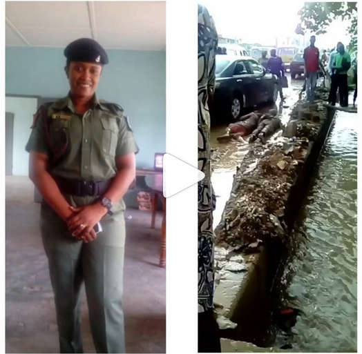 Female Soldier Humiliates Two Men For Scratching Her Car In Lagos (Photos)