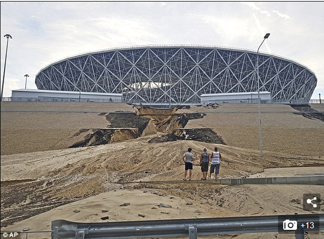 Two World Cup Stadiums In Russia Have Already Started To Collapse (Photos)