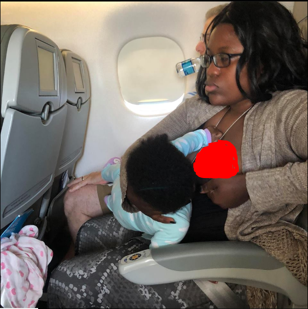 Lady Shocked After Woman Was Spotted B.reastfeeding Her Baby On A Plane