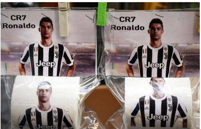Cristiano Ronaldo Toilet Paper On Sale After His £99million Move To Juventus
