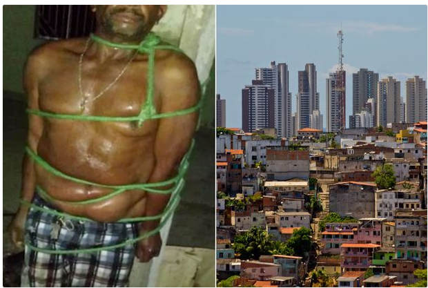 See What Neighbors Did To A Drunk Man After Beating His Wife To Pulp (Photos)