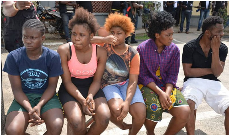 'We Sleep With Seven To Ten Men Daily' – Arrested Prostitutes (Photo)