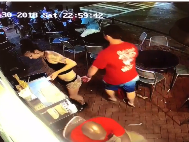 See What Happened After Man Grabbed Waitress Bum In A Restaurant (Photos)