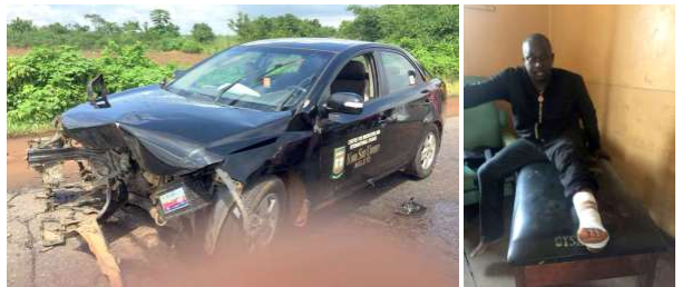'No One Attempted To Help' – Nigerian Professor Involved In Car Accident (Photos)