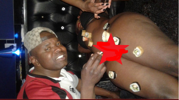 Man Celebrates Birthday In Style, Chills With Nakked Lady In Night Club (Photos)