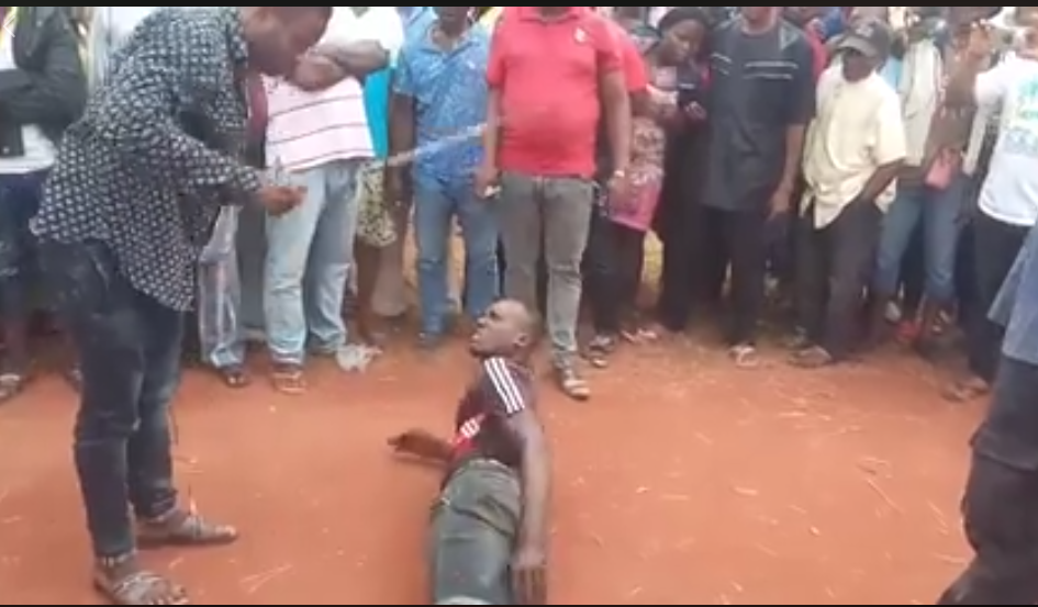 Group Of Bad Boys Flogged In Public By Youth Leaders In Imo (Photos/Video)