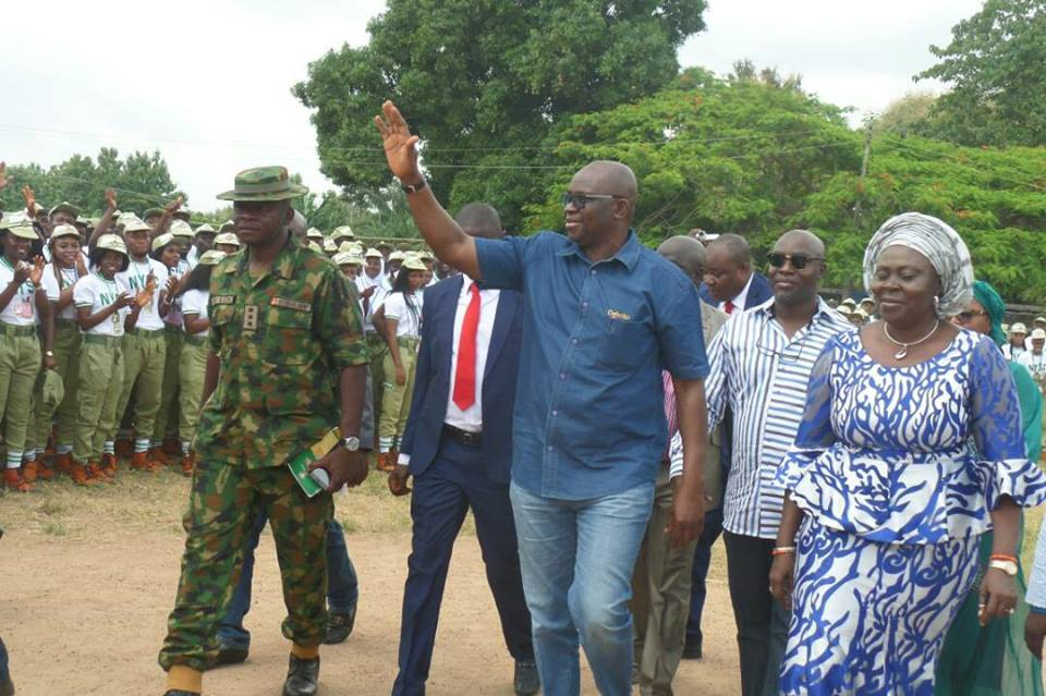 Fayose makes public appearance after his deputy lost to Fayemi (Video)