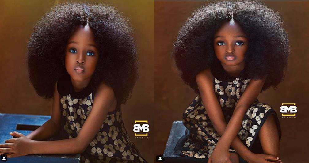 Wow! This 4-Year-Old Nigerian Girl Branded 'The Most Beautiful Girl In The World' (Photos)