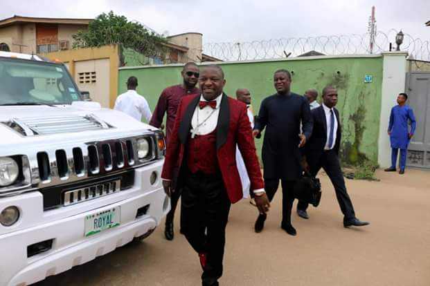 Popular Lagos Pastor Makes Grand Entry At An Event With His N80m Limousine (Photos)