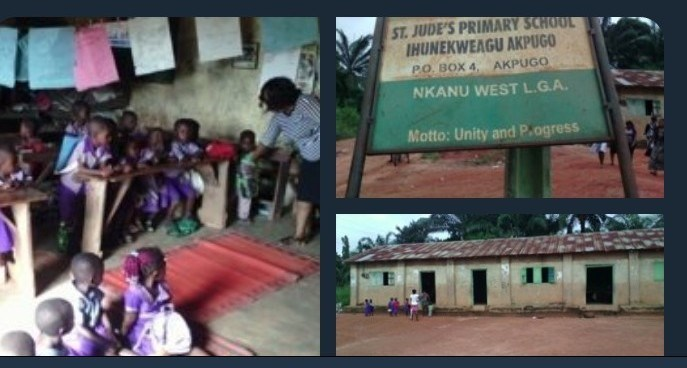 Heartbreaking! See This School In Enugu That N30million Was Allocated For Its Construction (Photos)