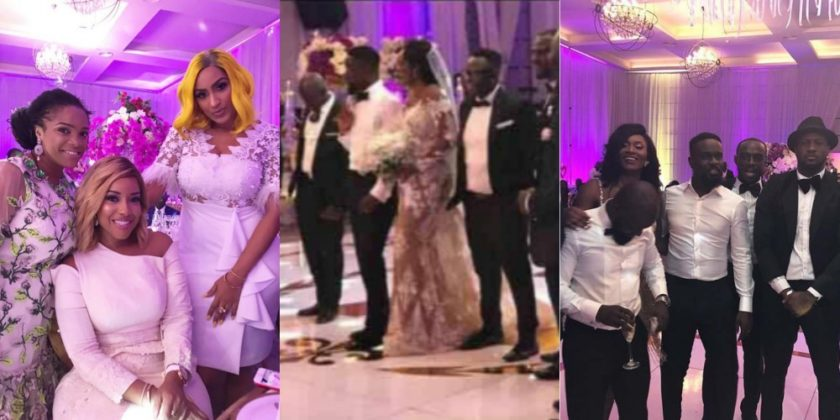 Checkout Photos From Sarkodie And Tracy's White Wedding in Ghana