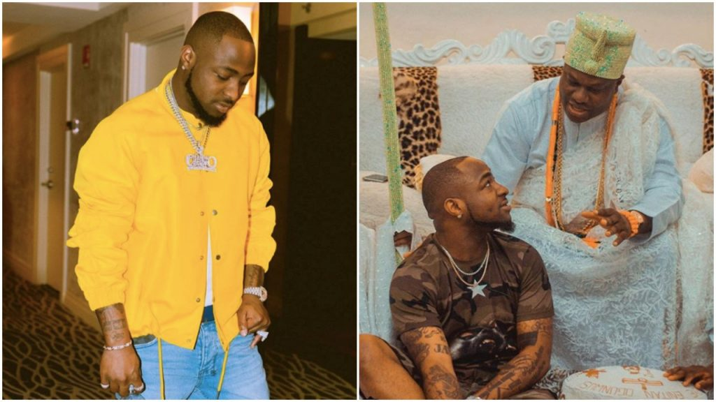 Excitement as Davido Visits Ooni of Ife (Photos)