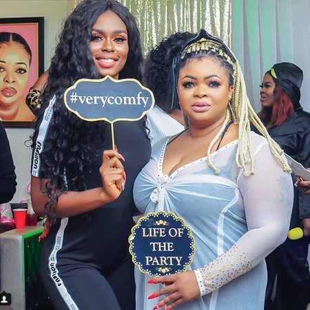 Nollywood Actress, Dayo Amusa Holds Slumber Party To Celebrate Her Birthday (photos)
