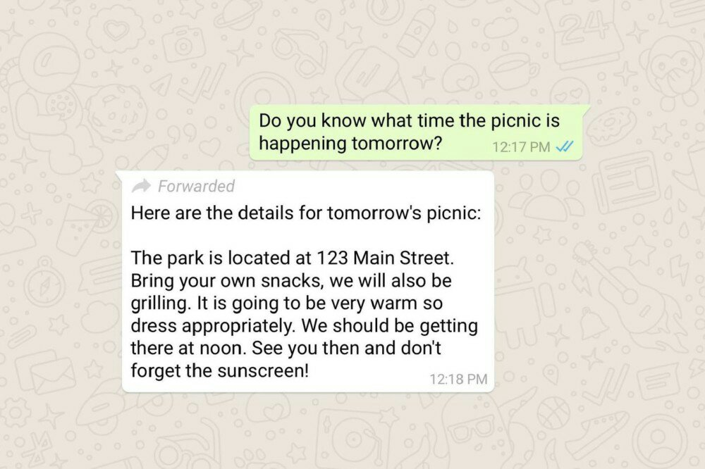 WhatsApp will now Let you Know when a User Sends you a Forwarded Message