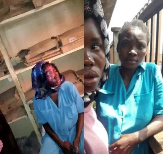 Female Beggar Pretending to be Burnt with Makeup Escapes Jungle Justice in Onitsha (Photos)