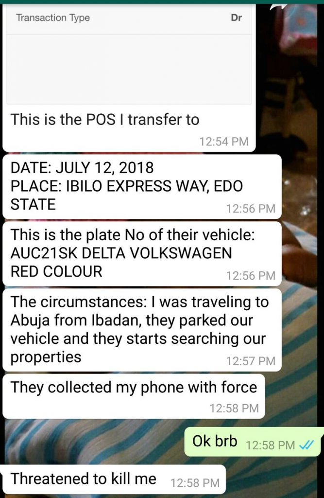 'They Threatened To Waste my Life'- Man Cries Out After SARS Forcefully N100k from him with POS