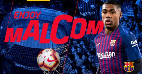 OFFICIAL: Barcelona Sign Malcom From Bordeaux (Photos)