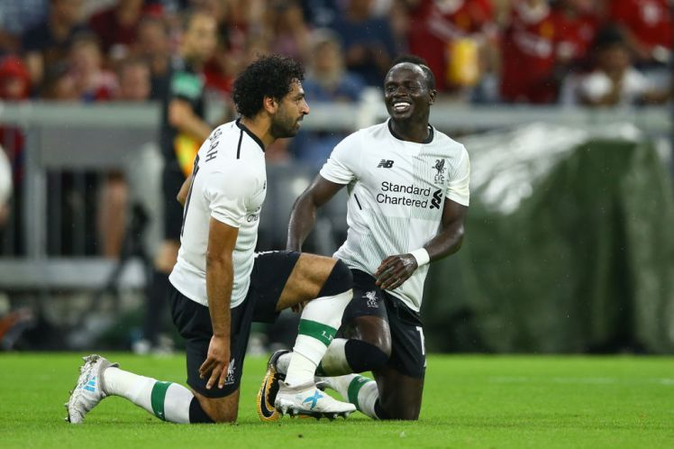 Drama As Mo Salah and Sadio Mane Fights Over Penalty (Photos/Video)