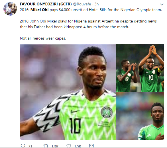 Not All Heroes Wear Cape! Nigerians React To Mikel Obi Playing Argentina Despite Hearing His Dad's Kidnap