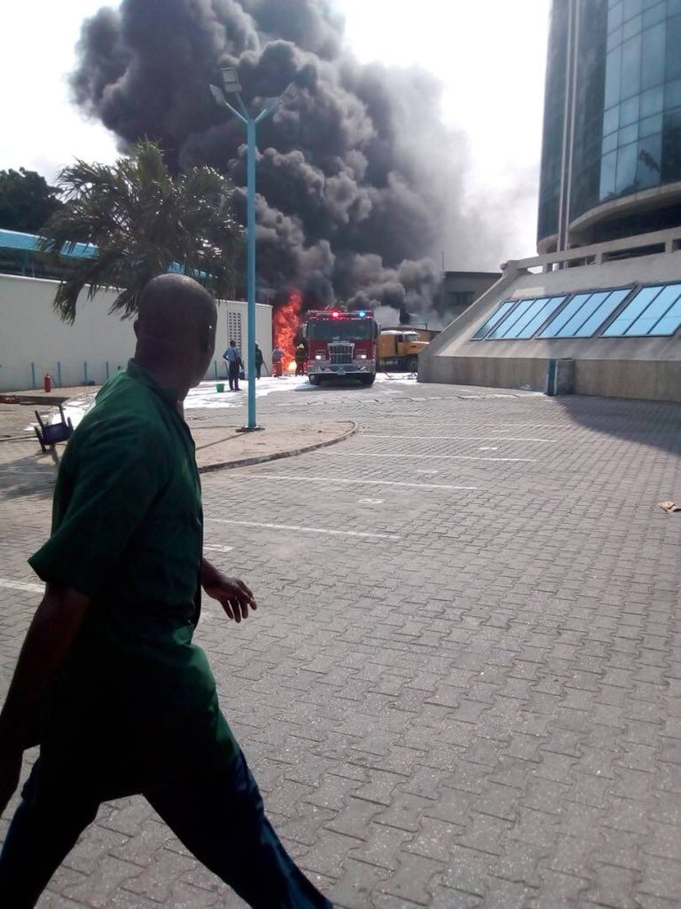 More Photos From The Ecobank Tanker Explosion This Morning, As RRS Arrives (Photos)