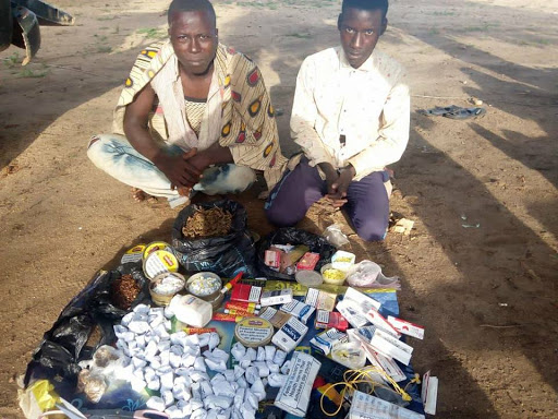 Army Uncovers Bags of Weed and Tramadol During Raid, Arrests Suspects (Photos)