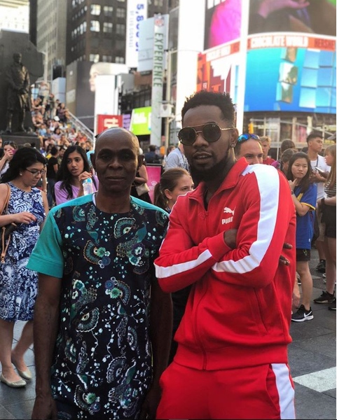 Rare Photo of Patoranking & His Dad In New York