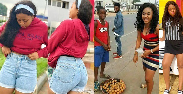 Actress Regina Daniels Buys Cherry Fruit From A Little Boy Who Wants Her As Girlfriend