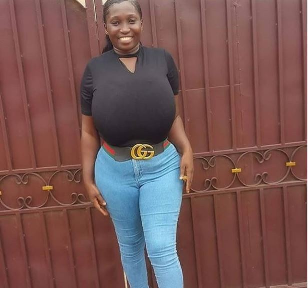 Pretty Lady With Gigantic Huge Boobs Causing Stir on Online (Photo)