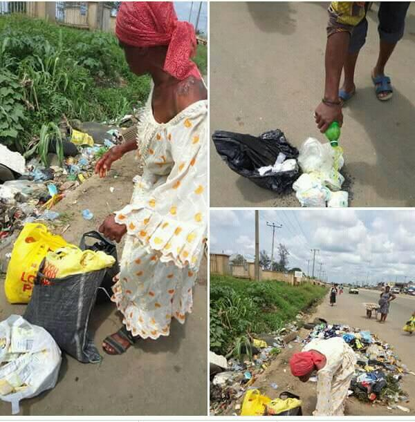 Old Woman Spotted Picking Used Sanitary Pads From A Refuse Dump (Photos)