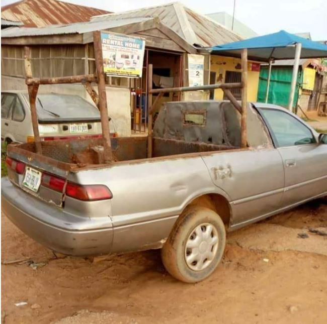 Only In Nigeria!! Weird Toyota Camry Car Spotted In Edo State (Photos)