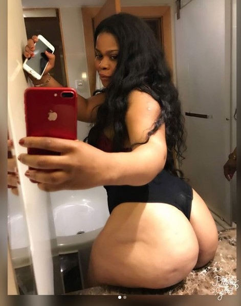Lady Who Claimed Burna Boy Got Her Pregnant Is Now Seeking Attention With Her Butt & They Are Big