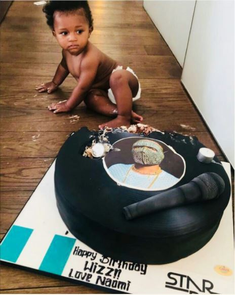 Fans React To Wizkid's Son Destroying His Father's Birthday Cake (PHOTOS)