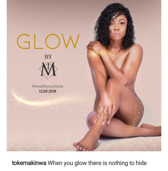 OAP Toke Makinwa Shares Her Nak-ed Picture On IG, Says She Has Nothing To Hide (Photo)