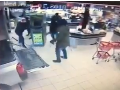 Shocking! Armed Robbers Steal A Whole ATM After Attacking Supermarket (Video)