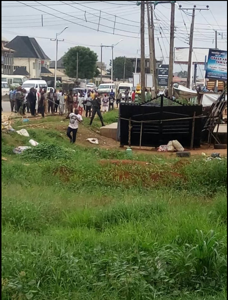 Fear Gripped Residents As Bomb Is Found Near A Filling Station In Delta State