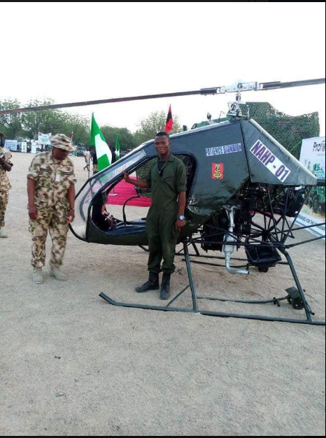 Nigeria's Got Talent! Talented Man Designs And Builds Helicopter For Nigerian Army