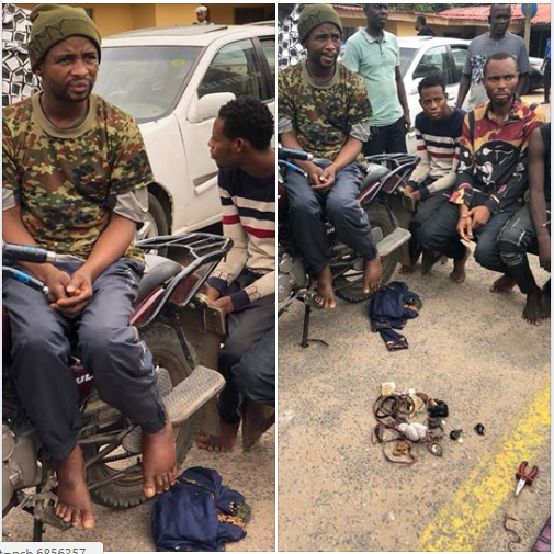 Meet Lagos Bike Man, Who Dressed as a Soldier and Robs His Passengers (Photos)