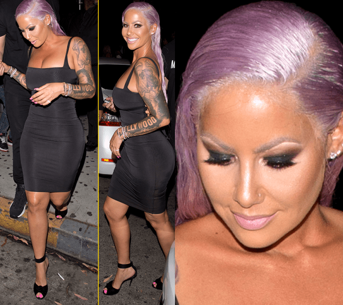 Badass Hairstyle!! Amber Rose Changes Up Her Hair.. Nigerians Slay Queen Choice
