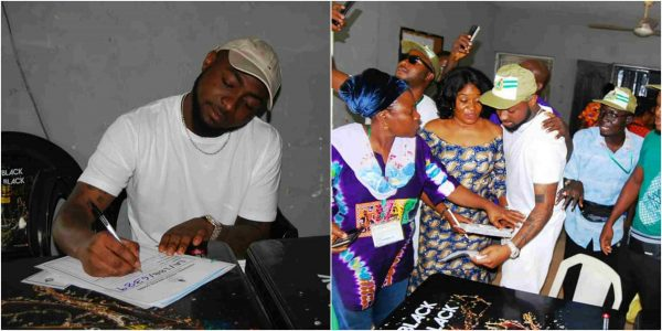 Na waooo! See What NYSC Female Officials Were Caught Doing With Davido As He Registers For NYSC in Lagos (Photos)